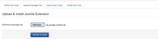 RSForm!Pro Google Tracker plugin install