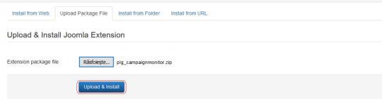 RSForm!Pro Campaign Monitor plugin install