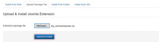 RSForm!Pro VerticalResponse plugin install