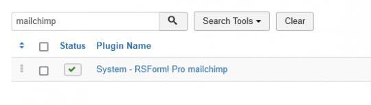 RSForm!Pro mailchimp plugin