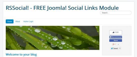 Social links on homepage