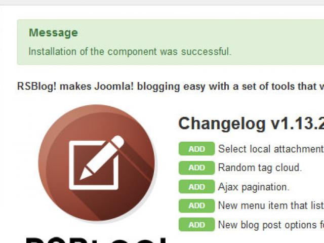 Joomla! Installation complete