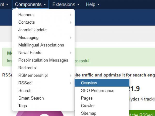 Joomla! Components > RSSeo!