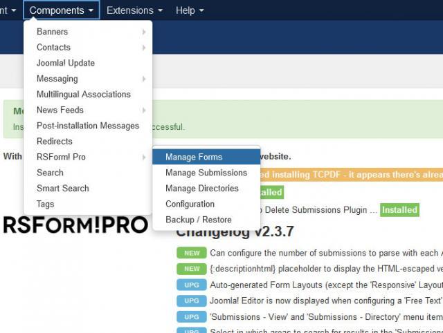 Joomla! components