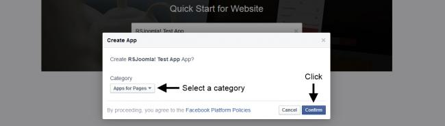 Facebook Confirm App Name