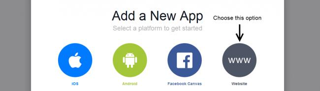 Facebook Choose Website App