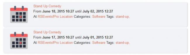 RSEvents!Pro Content Plugin Frontend