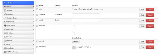 Rating Fields