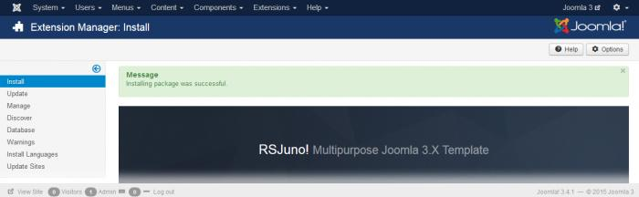 RSJuno! install success