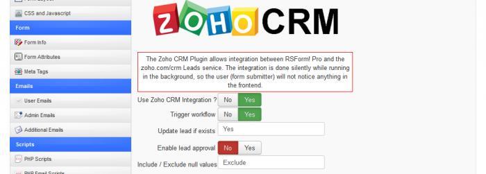 Zoho CRM Backend