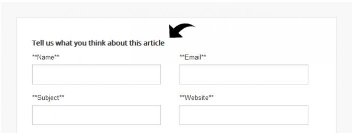 Custom Message above the form