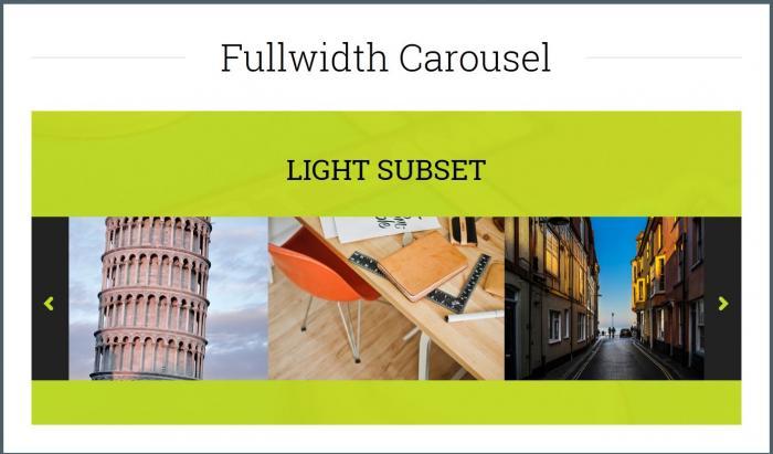 Full Width Carousel