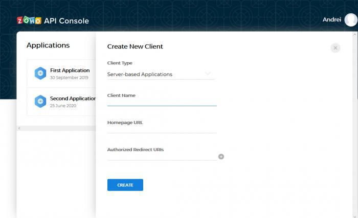 Create a client