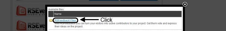 Click RSFeedback! Files