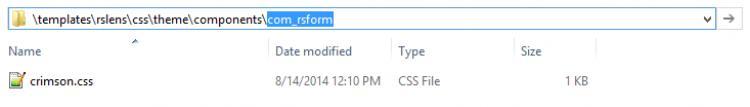 com_rsform Folder