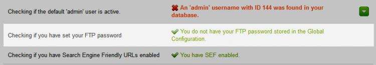 RSFirewall! System Check Joomla! Configuration - FTP Password