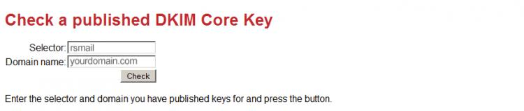 Check DKIM Core key