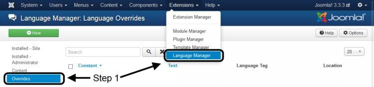 Language Manager - Overrides