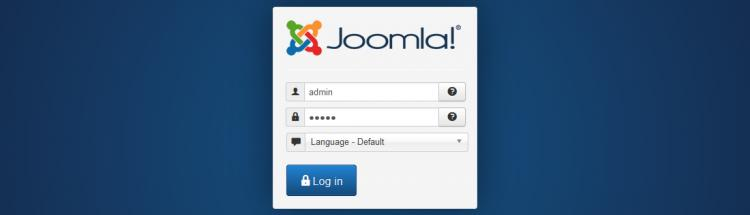 Log in to Joomla! backend