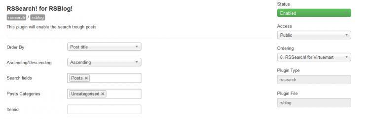 RSBlog! Plugin Configuration