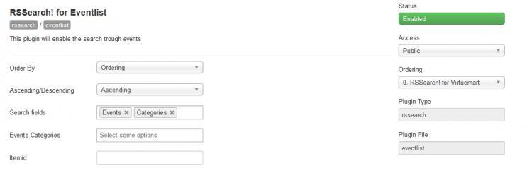 EventList Plugin Configuration