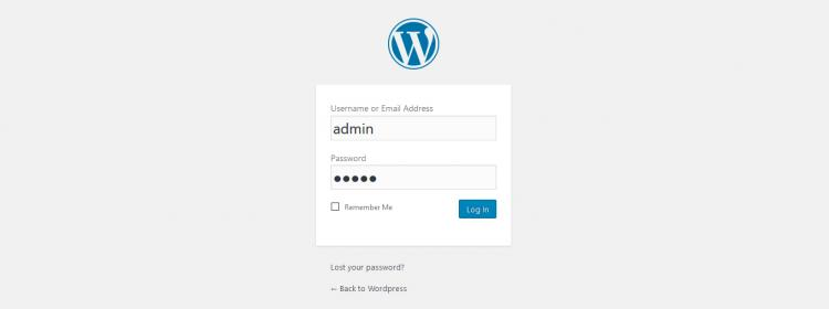 RSFirewall! Wordpress login