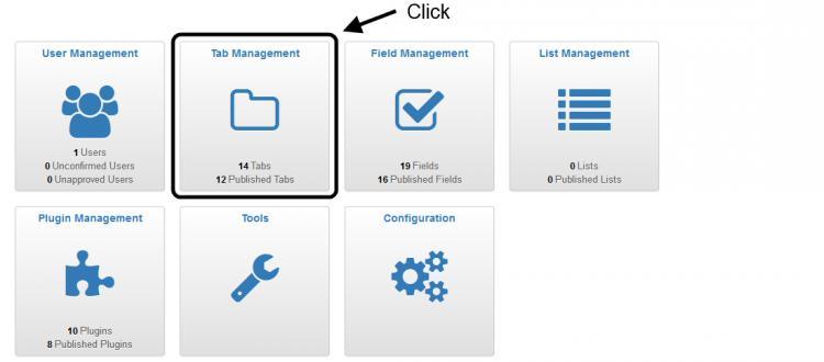 Click Tab Management