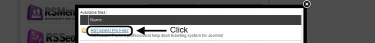 Click RSTickets!Pro Files