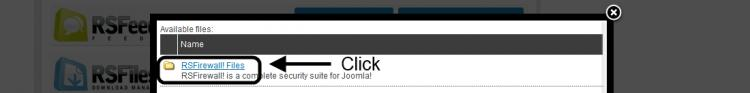 Click RSFirewall! Files