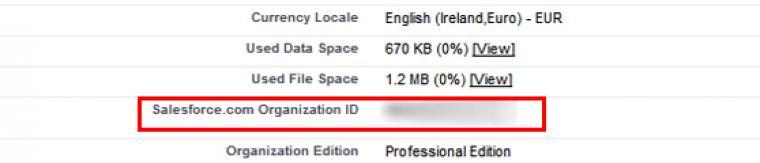 Salesforce Organisation ID