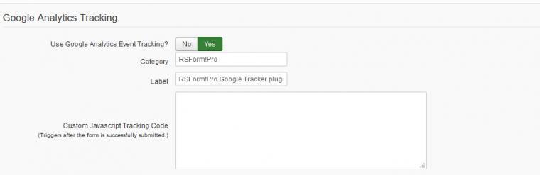 RSForm!Pro Google Tracker plugin Tutorial