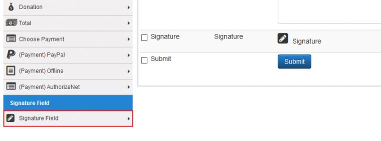RSForm!Pro Signature Plugin - Signature field