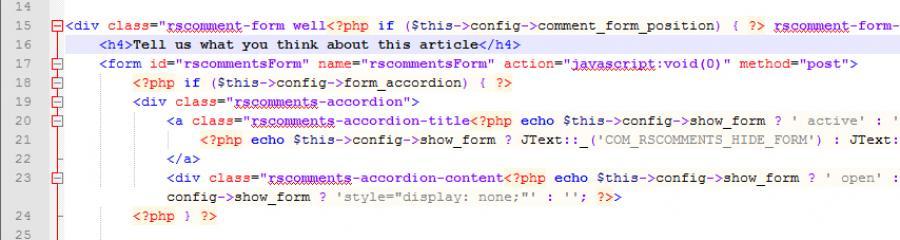 The custom code