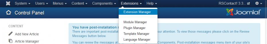 Extensions - Extension Manager