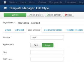 RSFedra! Configuration - Logo Options tab