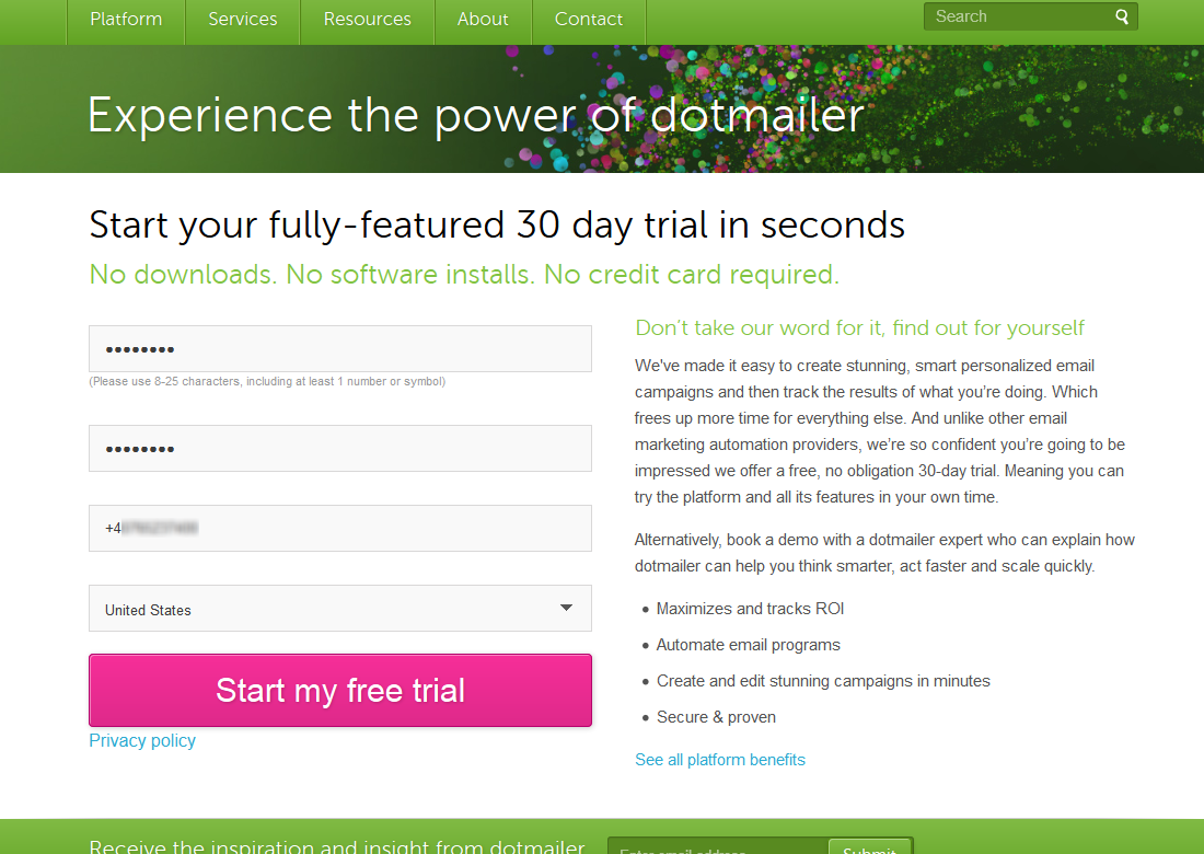 Plugin - dotmailer (Create custom newsletter subscription forms)