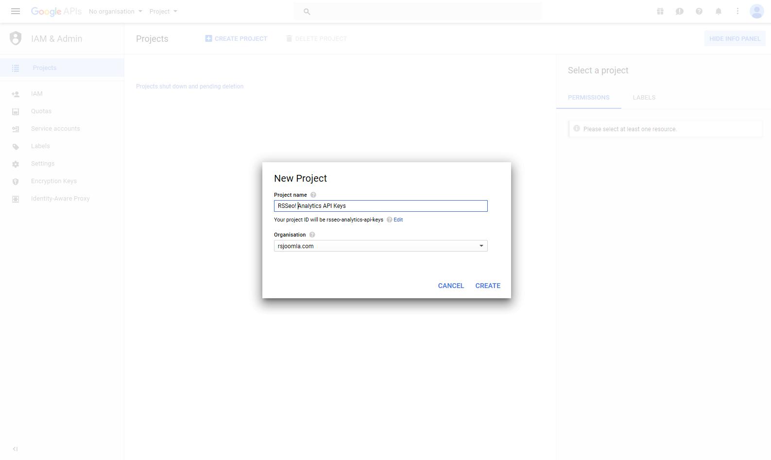 How to get Google Analytics API Keys