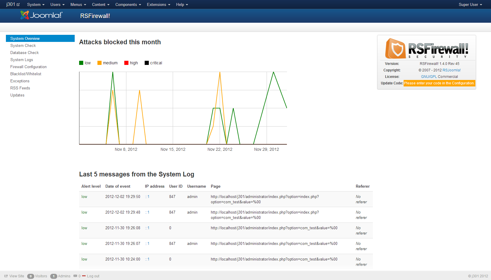 rsfirewall rev 45 joomla 3 x compatibility new features and