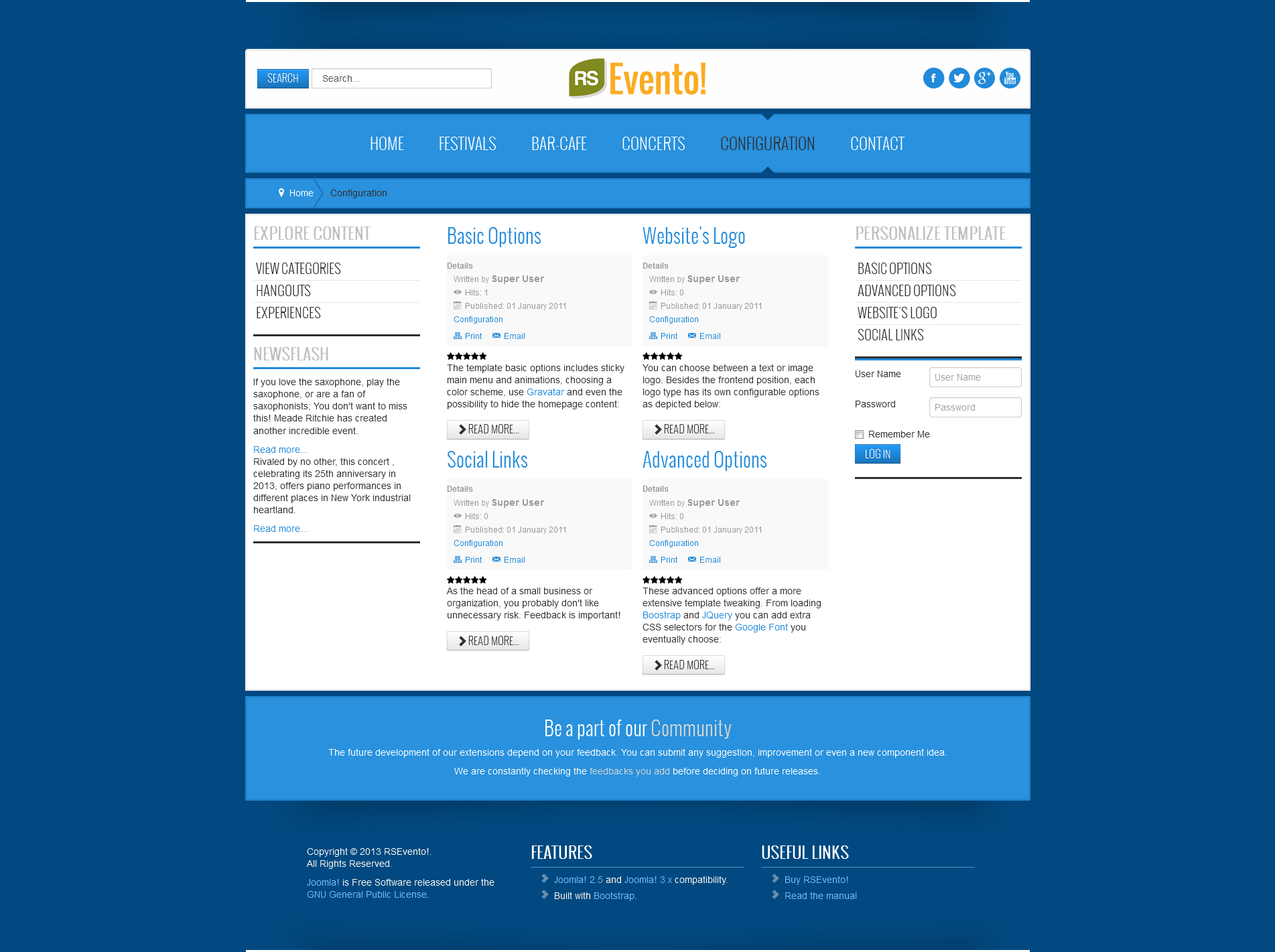 RSEvento! - Joomla! 2.5 and 3.x responsive template released