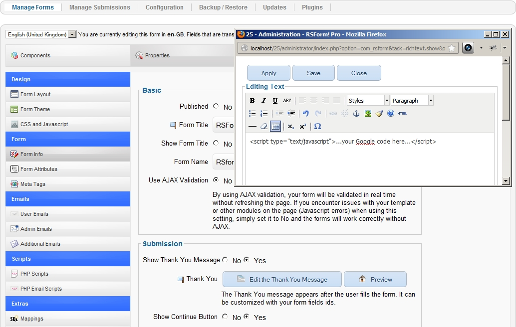Как установить плагин google adwords для joomla реклама сайта форум