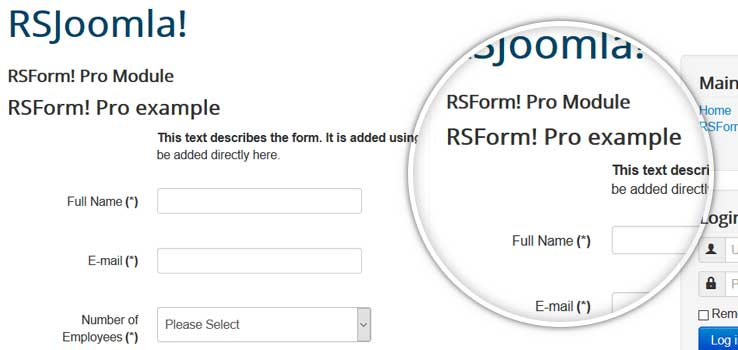 Module - mod_rsform (Display the form in a module position)