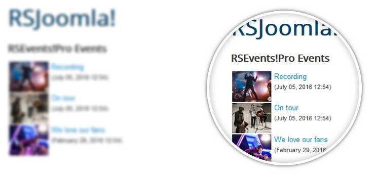 Events module