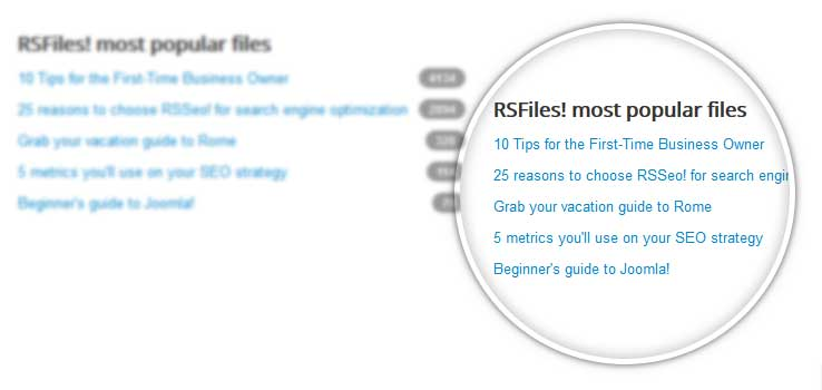 RSFiles! most popular files