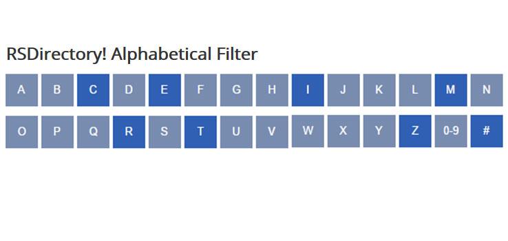 Alphabetical Filter Module