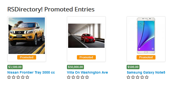 Promoted Entries Module