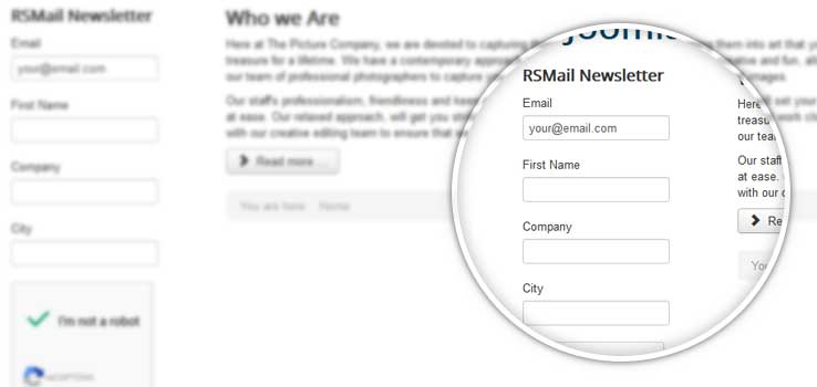 RSMail subscribe module