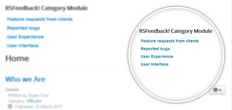 RSFeedback! Category Module