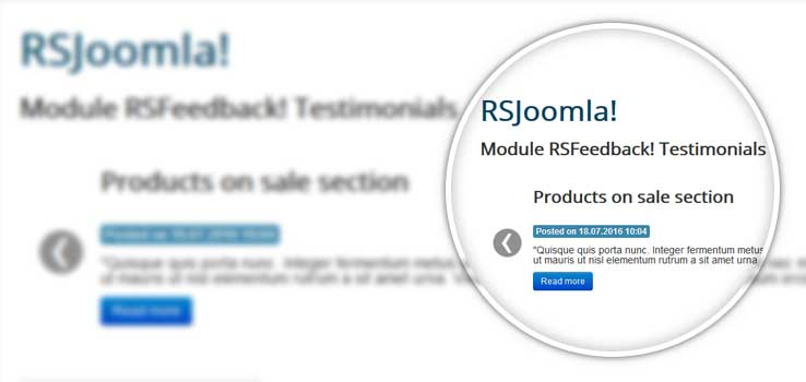 RSFeedback! Testimonials module