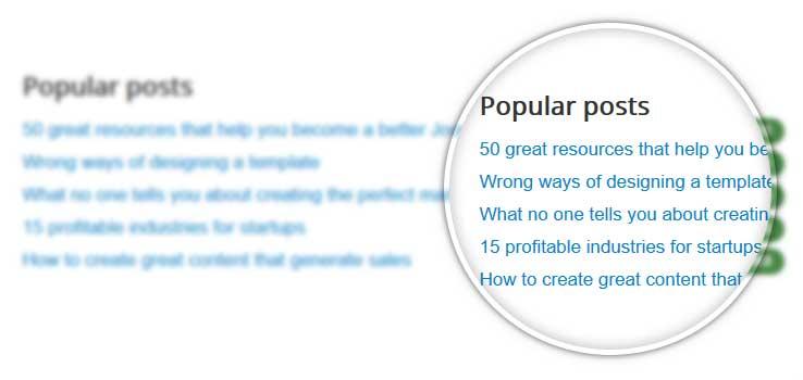 Popular blog posts module