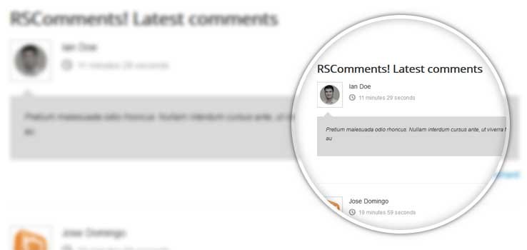 Front-end latest comments module